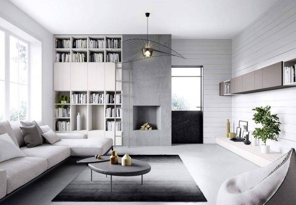 Estilo minimalista en los interiores un concepto que for Soggiorno minimalista